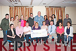 HEALTHY HIKE: Students who have completed a Health Care course in FÁS, Tralee gathered together last Thursday afternoon in the Grand hotel, Tralee to present a cheque to James Hussey of Cumann Ioseaf, the proceeds of their recent hike up Torc Mountain, Killarney, seated l-r: Davinia Poff, Samantha Spillane, Majella O'Sullivan (course tutor), Robert Dowd, James Hussey (Cumann Ioseaf, Tralee), Roísin Anderson, Glynis Maritz. Back l-r: Neill O'Shea, Shelia Brosnan, Siobhan O'Connor, Irene Coleman, Pauline Kerin, Cliff Dillon, Rouelle Camonas, Trisha O'Brien, Noreen O'Neill, Bozena Ruchala and Kevin Skerry.
