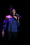 Patina Miller performing at the Dramatists Guild Foundation toast to Stephen Schwartz with a 70th Birthday Celebration Concert at The Hudson Theatre on April 23, 2018 in New York City.