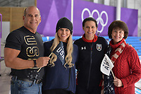 OLYMPIC GAMES: PYEONGCHANG: 19-02-2018, Gangneung Oval, Long Track, father Mike, sister Brooke, Brittany Bowe (USA), mom Debbie, ©photo Martin de Jong