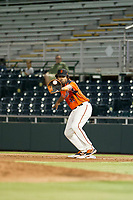 AZL Giants first baseman Nathanael Javier (47) in action against the AZL Athletics on August 5, 2017 at Scottsdale Stadium in Scottsdale, Arizona. AZL Athletics defeated the AZL Giants 2-1. (Zachary Lucy/Four Seam Images)
