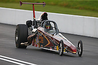 Jun 20, 2015; Bristol, TN, USA; NHRA top dragster driver XXXX during qualifying for the Thunder Valley Nationals at Bristol Dragway. Mandatory Credit: Mark J. Rebilas-