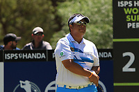 Kiradech Aphibarnrat (THA) in action on the 2nd during Round 3 of the ISPS Handa World Super 6 Perth at Lake Karrinyup Country Club on the Saturday 10th February 2018.<br /> Picture:  Thos Caffrey / www.golffile.ie<br /> <br /> All photo usage must carry mandatory copyright credit (&copy; Golffile | Thos Caffrey)