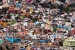A hillside of colorful buildings, Guanajuato, Mexico