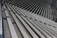May 30, 2013; Englishtown, NJ, USA: General view of the grandstands at Raceway Park. Mandatory Credit: Mark J. Rebilas-