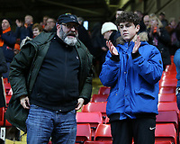 Blackpool fans applauds the fans at the final whistle <br /> <br /> Photographer David Shipman/CameraSport<br /> <br /> The EFL Sky Bet League One - Charlton Athletic v Blackpool - Saturday 16th February 2019 - The Valley - London<br /> <br /> World Copyright © 2019 CameraSport. All rights reserved. 43 Linden Ave. Countesthorpe. Leicester. England. LE8 5PG - Tel: +44 (0) 116 277 4147 - admin@camerasport.com - www.camerasport.com