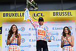 Greg Van Avermaet (BEL) CCC Team retains the mountains Polka Dot Jersey at the end of Stage 2 of the 2019 Tour de France a Team Time Trial running 27.6km from Bruxelles Palais Royal to Brussel Atomium, Belgium. 7th July 2019.<br /> Picture: ASO/Pauline Ballet | Cyclefile<br /> All photos usage must carry mandatory copyright credit (© Cyclefile | ASO/Pauline Ballet)