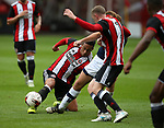 Jake Bennett of Sheffield Utd during the U23 Professional Development League Two match at Bramall Lane Stadium, Sheffield. Picture date 18th August 2017. Picture credit should read: Simon Bellis/Sportimage