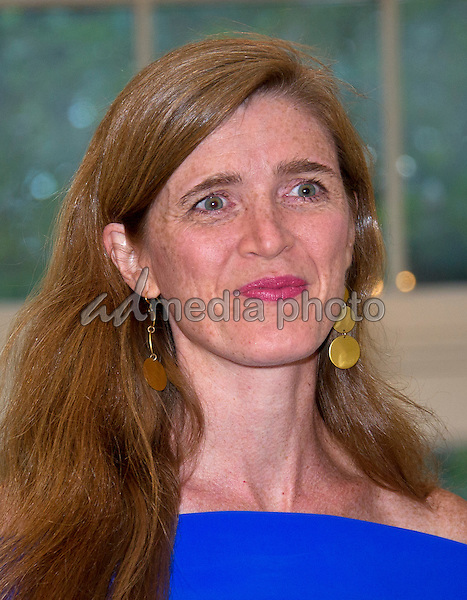 Samantha Power, United States Ambassador to the United Nations arrives for the State Dinner honoring Prime Minister Lee Hsien Loong of the Republic of Singapore at the White House in Washington, DC on Tuesday, August 2, 2016. Photo Credit: Ron Sachs/CNP/AdMedia