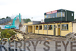 Diggers tearing down the historic dressing rooms in Fitzgerald Stadium Wednesday morning   Copyright Kerry's Eye 2008