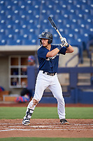 AZL Brewers Blue Alex Hall (33) at bat during an Arizona League game against the AZL Rangers on July 11, 2019 at American Family Fields of Phoenix in Phoenix, Arizona. The AZL Rangers defeated the AZL Brewers Blue 5-2. (Zachary Lucy/Four Seam Images)