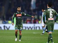11th January 2020; Stadio Olympico, Rome, Italy; Serie A Football, Lazio versus Napoli; Lorenzo Insigne of Napoli chats with team mates - Editorial Use