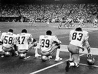 Raiders playing the Seahawks..Ron Riesterer/photo
