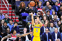 Lonzo Ball of the Los Angeles Lakers. Washington defeated Los Angeles 111-95 during a game at the Capital One Arena in Washington, D.C. on November 9, 2017. Alan P. Santos/DC Sports Box