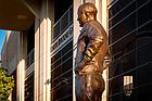 September 6, 2017; Statue of Knute Rockne outside the Rockne Gate of Notre Dame Stadium (Photo by Matt Cashore/University of Notre Dame)