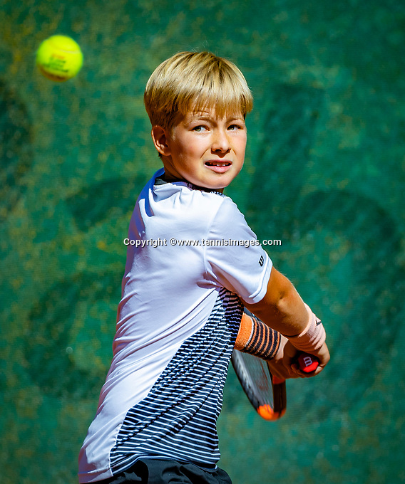 Hilversum, Netherlands, August 6, 2018, National Junior Championships, NJK, Pieter de Lange (NED)<br /> Photo: Tennisimages/Henk Koster