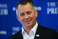 Washington, DC - May 16, 2016: U.S. Representative David Jolly (R-FL) holds a news conference at the National Press Club in the District of Columbia, May 16, 2016, to discuss the Stop Act (H.R. 4443) with Rep. Rick Nolan (D-MN). If passed, the Act would ban members of Congress from personally asking for money from donors.  (Photo by Don Baxter/Media Images International)