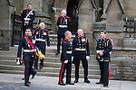 © Joel Goodman - 07973 332324 . 02/09/2013 . Bury , UK . Fire service personnel arrive ahead of the service . The funeral of fireman Stephen Hunt at Bury Parish Church today (Tuesday 3rd September 2013) . Stephen Hunt died whilst tackling a blaze at Paul's Hair World in Manchester City Centre in July 2013 . Photo credit : Joel Goodman