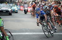 maglia azzurra Giovanni Visconti (ITA/Movistar) in the local finishing laps around Milano<br /> <br /> Giro d'Italia 2015<br /> final stage 21: Torino - Milano (178km)