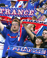 French fans. The Korea Republic and France played to a 1-1 tie in their FIFA World Cup Group G match at the Zentralstadion, Leipzig, Germany, June 18, 2006.