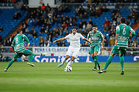 Real Madrid´s Sami Khedira and Cornella´s Gomez and David during Spanish King Cup match between Real Madrid and Cornella at Santiago Bernabeu stadium in Madrid, Spain.December 2, 2014. (NortePhoto/ALTERPHOTOS/Victor Blanco)