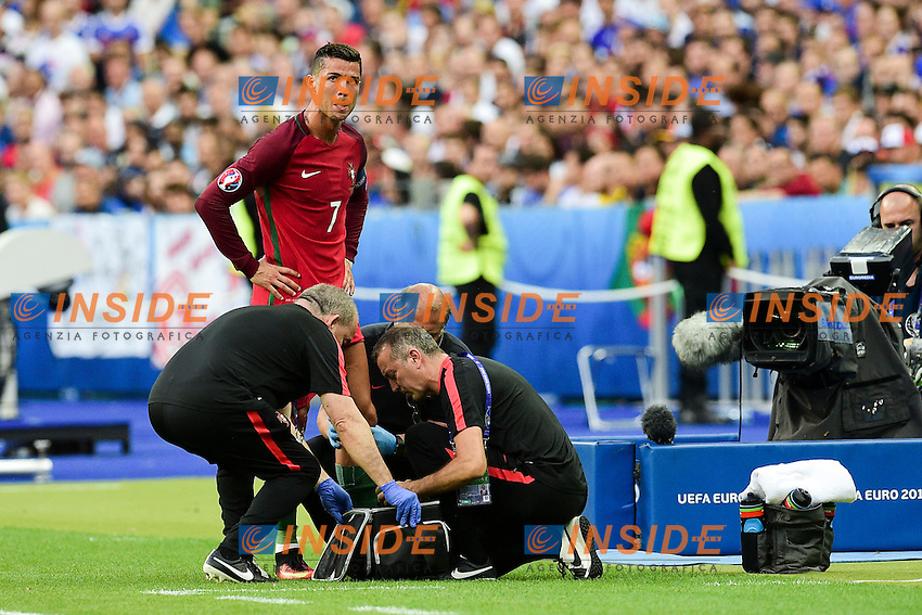 Infortunio Cristiano Ronaldo Portugal Injured <br /> Paris 10-07-2016 Stade Saint Denis Football Euro2016 Portugal - France / Portogallo - Francia Final - Finale <br /> Foto JB Autissier / Panoramic / Insidefoto
