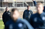St Johnstone Training…27.10.17<br />Manager Tommy Wright and Assistant Manager Callum Davidson pictured during training this morning at McDiarmid Park ahead of tomorrows trip to Partick Thistle<br />Picture by Graeme Hart.<br />Copyright Perthshire Picture Agency<br />Tel: 01738 623350  Mobile: 07990 594431