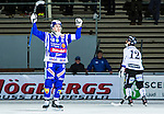 Uppsala 2015-10-23 Bandy Elitserien IK Sirius - Villa Lidk&ouml;ping BK :  <br /> Villa Lidk&ouml;pings David Karlsson firar sitt 2-1 m&aring;l  under matchen mellan IK Sirius och Villa Lidk&ouml;ping BK <br /> (Foto: Kenta J&ouml;nsson) Nyckelord:  Bandy Elitserien Uppsala Studenternas IP IK Sirius IKS Villa Lidk&ouml;ping jubel gl&auml;dje lycka glad happy