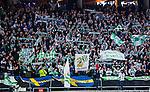 Solna 2014-03-16 Bandy SM-final herrar Sandvikens AIK - V&auml;ster&aring;s SK :  <br /> V&auml;ster&aring;s supportrar med flaggor och halsdukar<br /> (Foto: Kenta J&ouml;nsson) Nyckelord:  SM SM-final final herr herrar VSK V&auml;ster&aring;s SAIK Sandviken supporter fans publik supporters halsduk halsdukar flagga flaggor