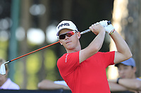 Brandon Stone (RSA) tees off the 10th green during Thursday's Round 1 of the 2018 Turkish Airlines Open hosted by Regnum Carya Golf &amp; Spa Resort, Antalya, Turkey. 1st November 2018.<br /> Picture: Eoin Clarke | Golffile<br /> <br /> <br /> All photos usage must carry mandatory copyright credit (&copy; Golffile | Eoin Clarke)