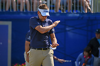 Ian Poulter (GBR) is disappointed in his drive as he heads down 1 during Round 3 of the Zurich Classic of New Orl, TPC Louisiana, Avondale, Louisiana, USA. 4/28/2018.<br /> Picture: Golffile | Ken Murray<br /> <br /> <br /> All photo usage must carry mandatory copyright credit (&copy; Golffile | Ken Murray)