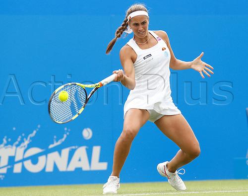 22.06.2016 Eastbourne, England. Aegon International Eastbourne Tennis Tournament.  Monica Puig (PUR) defeats Caroline Wozniacki (DEN) by a score of 4-6, 6-3, 6-4 in their 3rd round match at Devonshire Park.