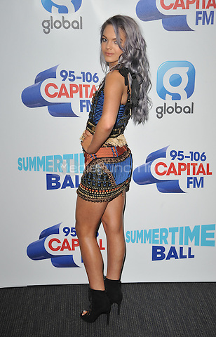 Louisa Johnson at the Capital FM Summertime Ball in aid of the Help a London Child charity, Wembley Stadium, Wembley, London, England, UK, on Saturday 11 June 2016.<br /> CAP/CAN<br /> &copy;CAN/Capital Pictures /MediaPunch ***NORTH AND SOUTH AMERICA ONLY***