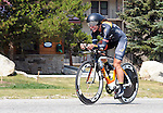 "August 121, 2015 - Breckenridge, Colorado, U.S. -  Time Trial action during the inaugural women's edition of the U.S. Pro Cycling Challenge, Breckenridge, Colorado.  Known as ""America's Race,"" the USA Pro Challenge takes place August 17-23, 2015 and for the first time will highlight women's cycling through an inaugural  three-day invitation-only event that will feature many of the USA's top women cyclists."