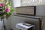 Memorial to Elizabeth Garrett Anderson 1836-1917, church of Saint Peter and Saint Paul, Aldeburgh, Suffolk, England, UK