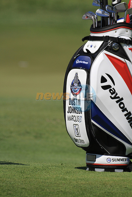 Dustin Johnson Bag.on practice day of the USGA at Congressional, Bethesda, Washington, 15/6/11.Picture Fran Caffrey/www.golffile.ie