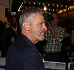 Jon Stewart attending the opening night performance for 'Springsteen on Broadway' at The Walter Kerr Theatre on October 12, 2017 in New York City.