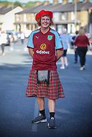 A Burnley fan dresses for the occasion<br /> <br /> Photographer Alex Dodd/CameraSport<br /> <br /> UEFA Europa League - Europa League Qualifying Round 2 2nd Leg - Burnley v Aberdeen - Thursday 2nd August 2018 - Turf Moor - Burnley<br />  <br /> World Copyright © 2018 CameraSport. All rights reserved. 43 Linden Ave. Countesthorpe. Leicester. England. LE8 5PG - Tel: +44 (0) 116 277 4147 - admin@camerasport.com - www.camerasport.com