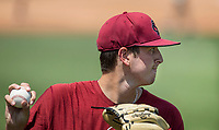 NWA Democrat-Gazette/BEN GOFF @NWABENGOFF<br /> Adam Hill, South Carolina pitcher, Friday, June 8, 2018, during practice for the NCAA Fayetteville Super Regional at Baum Stadium.