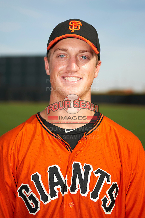 San Francisco Giants minor league pitcher Stephen Johnson #49 poses for a photo after an instructional league game against the Colorado Rockies at the Salt River Flats Complex on October 4, 2012 in Scottsdale, Arizona.  (Mike Janes/Four Seam Images)