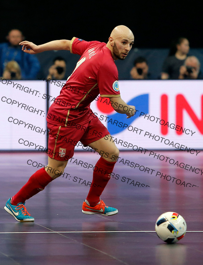 Stefan Rakic UEFA Euro 2016 Futsal Evropsko Prvenstvo, Srbija - Slovenija 2.2.1016. Februar 2. 2016. (credit image & photo: Pedja Milosavljevic / STARSPORT) total