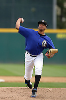 April 28, 2010: Manaurys Correa of the Rancho Cucamonga Quakes during game against the Visalia Rawhide at The Epicenter in Rancho Cucamonga,CA.  Photo by Larry Goren/Four Seam Images