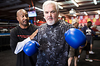 NWA Democrat-Gazette/CHARLIE KAIJO  during boxing class, Monday, June 11, 2018 at  Straightright Boxing and Fitness in Springdale.<br />