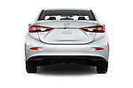 Straight rear view of 2017 Mazda Mazda3 Sport 4 Door Sedan Rear View  stock images