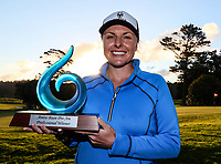 Winner Sarah Kemp (AUS) during the Anita Boon Pro-Am, North Shore Golf Course, Auckland, New Zealand Friday 22  September 2017.  Photo: Simon Watts/www.bwmedia.co.nz