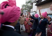 The wedding celebration for Suketu Soni and Divya Agarwal moves into the streets in Navsari, Gujarat, India, on Jan. 5, 2008.