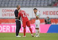 13th June 2020, Allianz Erena, Munich, Germany; Bundesliga football, Bayern Munich versus Borussia Moenchengladbach;  Trainer Marco Rose (Borussia Mönchengladbach) congratulates David Alaba (Bayern München)