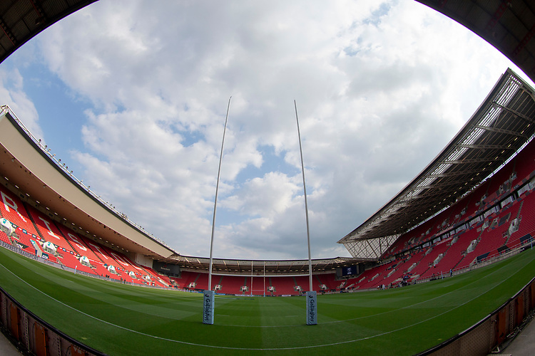 A general view of Ashton Gate, home of Bristol Bears<br /> <br /> Photographer Bob Bradford/CameraSport<br /> <br /> Gallagher Premiership - Bristol Bears v Bath Rugby - Friday August 31st 2018 - Ashton Gate - Bristol<br /> <br /> World Copyright © 2018 CameraSport. All rights reserved. 43 Linden Ave. Countesthorpe. Leicester. England. LE8 5PG - Tel: +44 (0) 116 277 4147 - admin@camerasport.com - www.camerasport.com