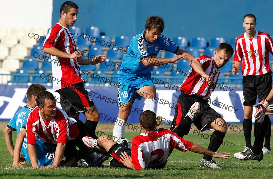 Fudbal, Lav Kup Srbije, season 2009-2010.BSK Borca Vs. Sevojno.Vladimir Krstic, center.Beograd, 09.23.2009..foto: Srdjan Stevanovic/Starsportphoto.com ©