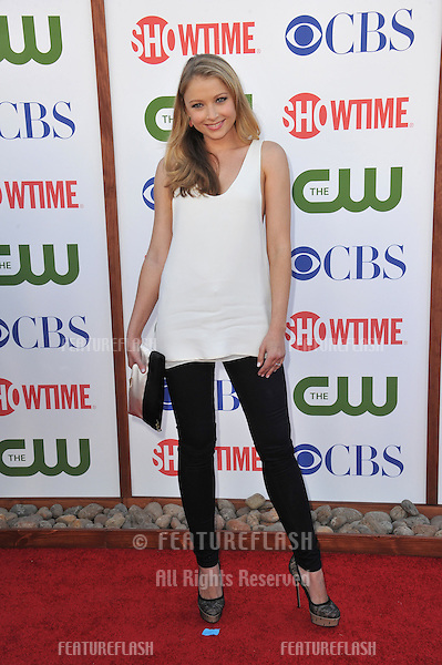 Elisabeth Harnois, star of CSI, at the CBS Summer 2011 TCA Party at The Pagoda, Beverly Hills..August 3, 2011  Los Angeles, CA.Picture: Paul Smith / Featureflash