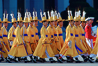 Musicians form part of  the Ceremonial Guard in South Korea